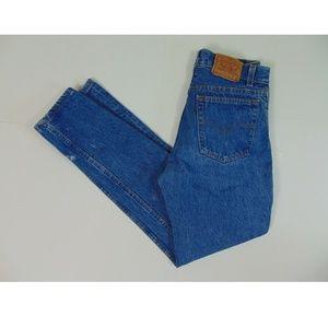 Vintage Levis 701 Men 27 x 29 Button Blue Jeans